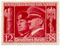stamps-various-hitler-musso-1941