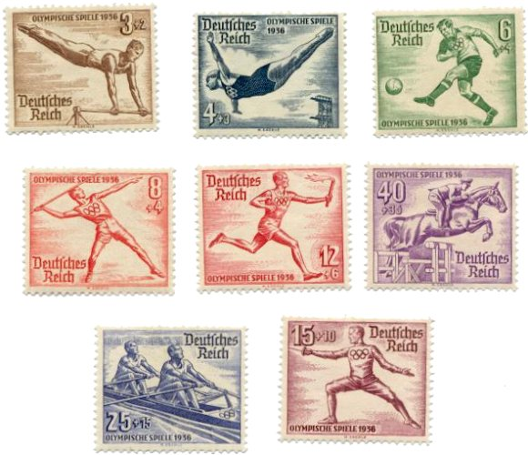 stamps-various-olympics-1936